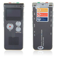 Digital Voice Recorder Pen 650Hr Dictaphone 8GB MP3 Player Steel Style with LCD Display Gray 609