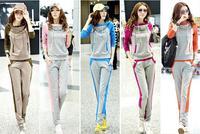 2013 spring summer women's plus size sweatshirt set female long-sleeve casual set female sportswear
