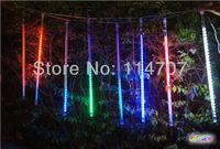 Hot sale 8pcs a set 160leds LED christmas light decoration LED Snow fall tube  raining  meteor tube  rope lamp,free shipping