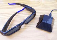 Wireless version charge type lcd 3d glasses pc compatible nvidia inve