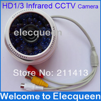 "Free Shipping!Good quality HD 1/3"" Sony CCD 600TVL 48 Leds 3.6mm lens Day and Night Indoor Camera Infrared CCTV with Audio Mic"