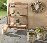 French solid wood decoration three flower zakka shelf