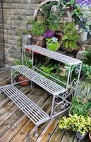 Garden decoration french retro finishing iron three flower shelf display rack