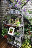 Garden decoration fashion french royal retro finishing iron flower stand display rack