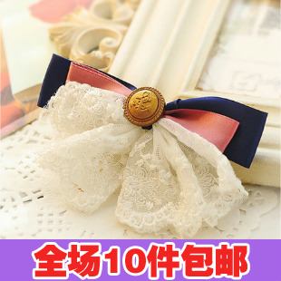 Free shipping 0848 hair accessory hair pin bow hairpin accessories hair accessory clip brooch headband