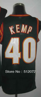 #40 Shawn Kemp Men's Authentic Road Green Throwback Basketball Jersey