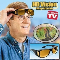 Free shipping 100pcs/lot HD Vision wraprounds Sunglasses TV glasses brand NEW