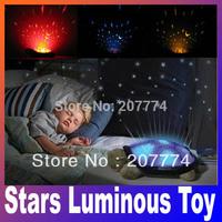 Feeding Stuffed Animals Plush Movies TV Baby kids Classic Toy sleep turtle lights the stars Luminous toy pink gray Free Shipping