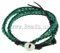 Free shipping!!!Wrap Bracelet,2013 new men, Jade, with Leather, brass clasp, 2-strand, 8mm, 4mm, Length:13.5-16.5 Inch