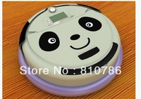 Lovely Panda Face  4 In 1 Multifunctional  Vacuum Robot Cleaner  ,LCD Screen,Schedule Work,Virtual Wall,Self Charge
