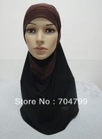 H607 latest two  pieces hijab, free shipping,fast delivery
