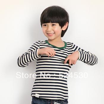 Pumpkin airship children's clothing autumn child T-shirt 100% long-sleeve cotton t-shirt male child basic shirt