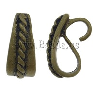 Free shipping!!!Brass Snap on Bail,Beautiful Jewelry, antique bronze color plated, nickel, lead & cadmium free, 6x13x7.50mm