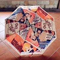 Monet oil painting umbrella three folding arts umbrella Gone With the Wind poster painting automatic umbrellas free shipping