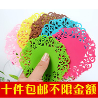 Cutout cup pad heat insulation pad waterproof circle bowl pad dining table mat fashion pad gift