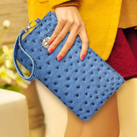 Women's handbag 2013 bag clutch long design wallet coin purse mobile phone card holder cosmetic small bag b006