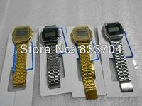 1Pcs Fashion F-91w sports watch Gold and silver watches f91 & A159w hot seller Digital wristwatch Drop shipping