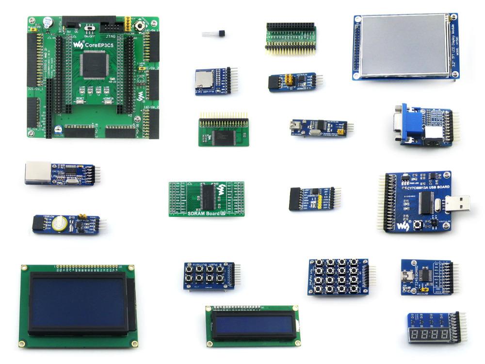 EP3C5 EP3C5E144C8N ALTERA Cyclone III FPGA Development Board + 19 Accessory Modules Kits = OpenEP3C5-C Package B(China (Mainland))