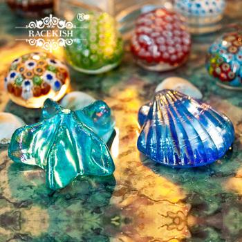 Fashion glass crystal ocean sea shells crafts decoration