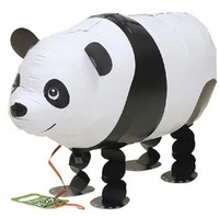 10PCS High Quality Aluminum Foil Panda Animal Balloons Walking Pet Balloon Inflatables Toys