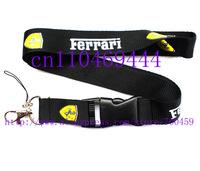 Wholesale  Hot 30pcs F errari Car Logo Lanyard/ MP3/4 cell phone/ keychains /Neck Strap Lanyard WHOLESALE Free shipping
