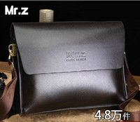 Brand 2013 New Style Men Genuine Leather Bag Casual Shoulder Bag Men Messenger Bag Free Shipping