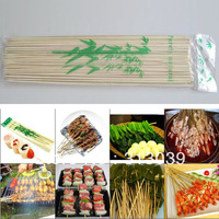 Free shipping BAMBOO SKEWERS SHISH KEBAB STICKS BARBEQU & GRILLING 100PC FOR GRILL OUTDOOR L0427