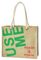 shipping Hot-selling  USE ME natural colour jute shopping bag vintage one shoulder women's knitted handbag