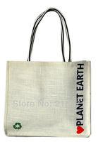 shipping Hot-selling  PLANET EARTH  white jute shopping bag vintage one shoulder women's knitted handbag