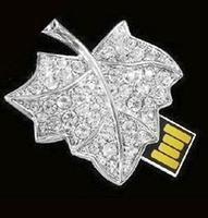 Cute jewelry tree leaf usb flash drive,leaves usb drive4G8G16G 32G full capacity crystal
