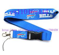 Wholesale  Hot 30pcs Buffalo Bills Logo football Lanyard/ MP3/4 cell phone/ keychains /Neck Strap Lanyard WHOLESALE