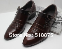 2013! Fashion brand mens patent leather wedding shoes genuine leather lace up oxfords dress shoes for men free shipping