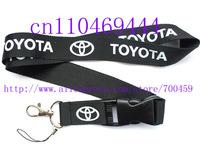 Wholesale  Hot 30pcs TOYOTA CAR Logo Lanyard/ MP3/4 cell phone/ keychains /Neck Strap Lanyard WHOLESALE Free shipping