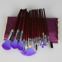 16pcs Professional Cosmetic Makeup Brushes Set Kit With Purple Bag +Free Shipping