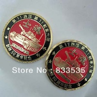 free shipping Collectible Military Coin with Antique gold