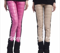 2013 Winter New Imitation Down Pants Plus Thick Velvet Leggings Women's Multicolor Warm Plus Size Boots Trousers Free Shipping