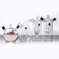 free shippingh Kitchen supplies personalized decorative glass oil and vinegar bottles dispenser Two kinds of spices