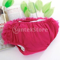 Free Shipping Hot Pink Baby Girl Ruffle Panties Bloomers Diaper Cover S