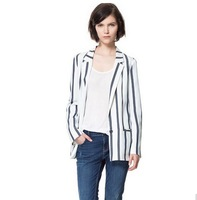 Free shipping wholesale women blazer striped women suits suit for women autumn clothes