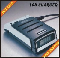 Free shipping--Super Quick Charger For NiMH/NiCd Battery is Quick Charger & LCD Shows back light Charging Status IC control
