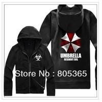 Free shipping Umbrella Corporation Corp Logo sweatshirt BIOHAZARD logo printed Resident Evil Costume hoodies Size M-4XL 7 Color
