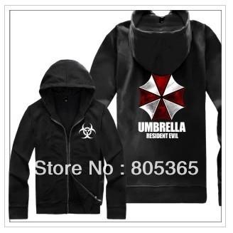 Free shipping Umbrella Corporation Corp Logo sweatshirt BIOHAZARD logo printed Resident Evil Costume hoodies Size M-4XL 7 Color(China (Mainland))