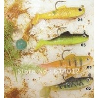 Free shipping (100 pieces/lot) Soft Baits Fishing Lures 100% Brand New 5 cm 3.8g