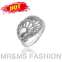 Free Shipping Hotselling (10PCS/LOT) Tide Of Fashion Phenix Women Rings 18k Full Rhinestone Christmas Gift For Women Jewelry 737