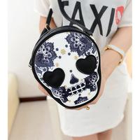 xmas gift Mini bag 2013 women's handbag vintage punk skull messenger bag shoulder bag coin purse