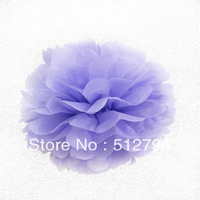 "Free shipping wholesale party decoration wedding decoration the lilac paper pom poms 8"" ,4'' , 14''mix"