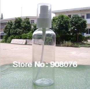 Cosmetics perfume lotion spray bottle 100 ml plastic Transparent Refillable bottle 20pcs/lot Free shipping(China (Mainland))