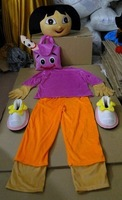 DORA the explorer adult costume love expeditionary DORA mascot costume plush cartoon role playing clothing polyfoam head