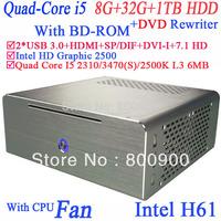 Desktop computer with DVD rewriter BD-ROM Quad Core i5 2310 2.9Ghz 3470 3.2Ghz 2500K 3.3Ghz 3470S 3.2Ghz Windows 7 installed