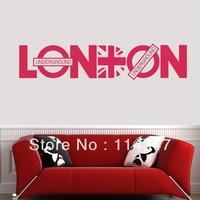 60*45CM LONDON CITY Vinyl Art Mural PVC Decal Sticker Home Decorative Decor EWQ0048